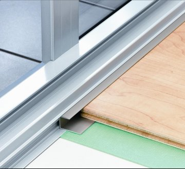 Expansion gap cover for wood and laminate floors dt051 for Wood floor expansion gap